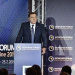 Dodik otvorio Ekonomski forum u Sarajevu: Privatizacija u BiH osigurala nekoliko bogatih porodica