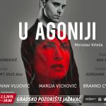 """Predstava """"U agoniji"""" po tekstu Miroslava Krleže u Prijedoru"""