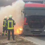 Na putu Mostar - Široki Brijeg zapalio se kamion, saobraćaj obustavljen (VIDEO)