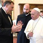 """""""SAČUVATI STABILNOST I MIR"""" Dodik i papa Franjo o važnim pitanjima u Evropi i svijetu"""