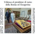 Dodik sa papom Franjom i na naslovnoj strani uglednog vatikanskog lista