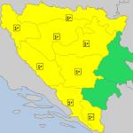Hidrometereološki zavod izdao Žuti meteoalarm
