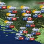 Danas oblačno sa slabom kišom (VIDEO)