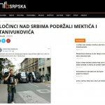 Infosrpska: Zločinci nad Srbima podržali Mektića i Stanivukovića