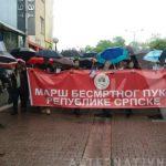 """Marš """"Besmrtnog puka"""" i polaganje vijenaca na Trgu palih boraca NOR-a (VIDEO)"""