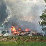 Veliki požar u Gradišci, gori skladište namještaja (FOTO)