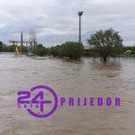 Zbog obilnih padavina vodostaj Sane u Prijedoru znatno je porastao  (VIDEO)