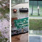 Grad pogodio Hrvatsku, obilna kiša u Zagrebu (VIDEO)