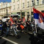 """Noćni vukovi"" slavili u Moskvi: Orilo se ""Pukni zoro"" (VIDEO)"