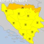 Izdat narandžasti meteoalarm za prijedorsku regiju