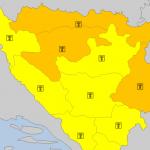 Izdat narandžasti meteoalarm za Prijedor, Banjaluku i Višegrad