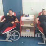 Pripadnici PU Prijedor u akciji dobrovoljnog darivanja krvi (VIDEO)