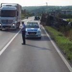 Prevrnuo se kamion na putu Banjaluka - Prijedor
