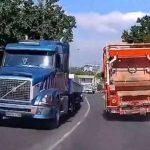 Kamionu otkazale kočnice, vozač iskočio iz kabine (VIDEO)