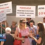 Mostar: Protesti protiv trase auto-puta 5C koja prolazi preko imanja (VIDEO)