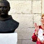 Kitarovićeva otkrila bistu fratru koji je prijavio partizane