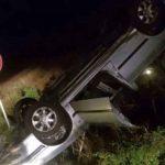 """""""PEŽO"""" SE PREVRNUO NA KROV Povrijeđen vozač koji je izgubio kontrolu zbog klizavog puta"""