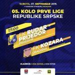 Vukojević Darko sudi utakmicu Rudar Prijedor-Kozara