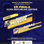 Drinić Velimir sudi utakmicu 1/8 finala Kupa Republike Srpske Rudar Prijedor-Borac (Banjaluka)