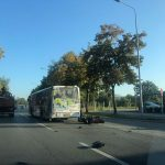 Sudar autobusa i motora