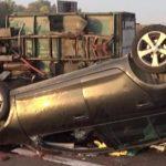STRAVIČNA NESREĆA Od siline udara sa kamiona otpala zadnja osovina sa dva točka (FOTO)