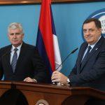 SVE U NADI FORMIRANJA VLASTI Milorad Dodik dolazi kod Dragana Čovića u Mostar