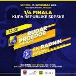 Valjić Ognjen sudi utakmicu 1/4 finala Kupa Republike Srpske Rudar Prijedor-Radni (Bijeljina)
