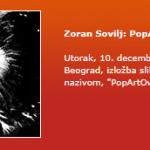 "Galerija SKC, Novi Beograd, izložba slika autora Zorana Sovilja, pod nazivom, ""PopArtOwl""."