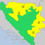 GRMLJAVINA, NISKE TEMPERATURE, PADAVINE, MAGLA Upaljen žuti meteoalarm za VEĆI DIO BiH