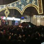 Navijači Crvene zvezde protestovali ispred Ambasade Crne Gore