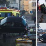 Nevjerovatna scena u Zadru: Spašena žena čije je vozilo visilo iznad mora