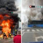 U centru Zagreba planuo autobus (VIDEO)