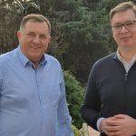 Neformalan susret Vučića i Dodika (FOTO)