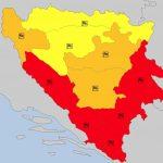 PRIJETE UDARI VJETRA DO 100 KILOMETARA NA ČAS Upaljen crveni meteoalarm za OVE dijelove BiH