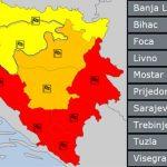 Crveno upozorenje za BiH zbog olujnih udara
