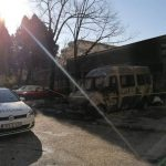 Izgorjelo kombi vozilo