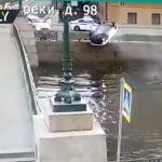 Pijani vozač NAKON BIJEGA od policije završio VISEĆI U AUTOMOBILU iznad rijeke (VIDEO)
