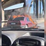 Automobil se zapalio tokom vožnje (VIDEO)