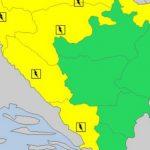 Najavljeno opasno vrijeme: Upaljen žuti meteoalarm