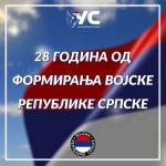 Ujedinjena Srpska čestitala Dan vojske RS