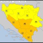 Objavljen žuti meteoalarm za područje Prijedor i Banjaluke