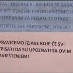 Banjaluka: Prijeteće upozorenje radnicima- ko se zarazi koronom dobiće otkaz (VIDEO)