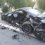 Potpuno slupan BMW, niko nije teže povrijeđen