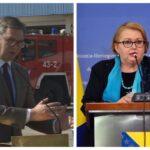 """""""Sit sam šupljih priča"""" Vučić odgovorio ministarki Turković koja je kritikovala donaciju vakcina FBiH"""