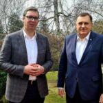 Rukovodsko Srpske i parlamentarne stranke sa Vučićem o složenoj političkoj situaciji u BiH