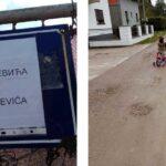 ULICA ZLAJE PRELETARČEVIĆA Pred izbore ostali bez asfalta: Mještani poslali poruku bivšoj vlasti u Prijedoru (FOTO)