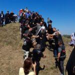 Bajkeri Srpske, Srbije i Crne Gore napavili špalir u čast patrijarha Porfirija (FOTO)